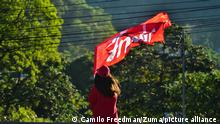 January 16, 2019 - El Salvador - Ex guerrilla Frente Farabundo Marti para la Liberacion Nacional (FMLN) conmemorates the 27th anniversary of the signing of the Peace Agreements that ended the country's 12-year war