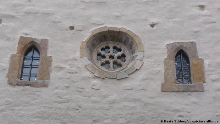 Окна Старой синагоги в Эрфурте