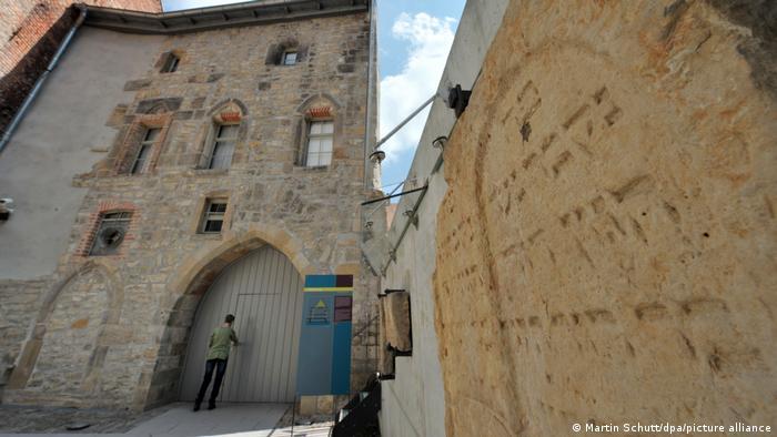 Вход в Старую синагогу в Эрфурте