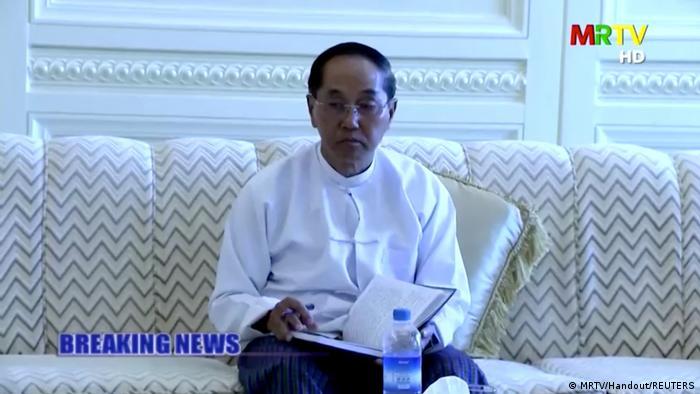 U Win Myint, presidente depuesto de Birmania por el golpe militar del Ejército.