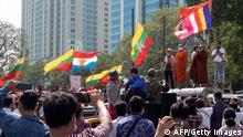 Myanmar Militärputsch |Militär in Yangon