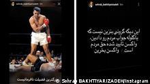 Bildkombo Instagram Iran Fußballnationalspieler Sohrab Bakthiyarizadeh