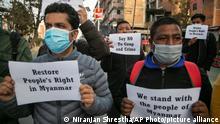 Nepal Myanmar Protest Kathmandu Putsch