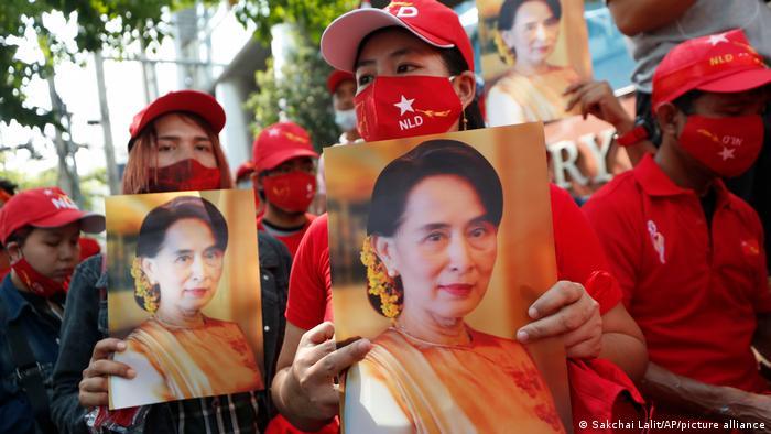 Bangkok: Anhänger aus Myanmar demonstrieren für Aung San Suu Kyi