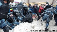 Russland Moskau Proteste gegen Nawalny-Verhaftung