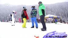 01.02.2021 *** Videostill Skiresort Bansko in Bulgarien. Quelle: https://www.dw.com/de/skifahren-in-europa-m%C3%B6glich-trotz-pandemie/av-56382686