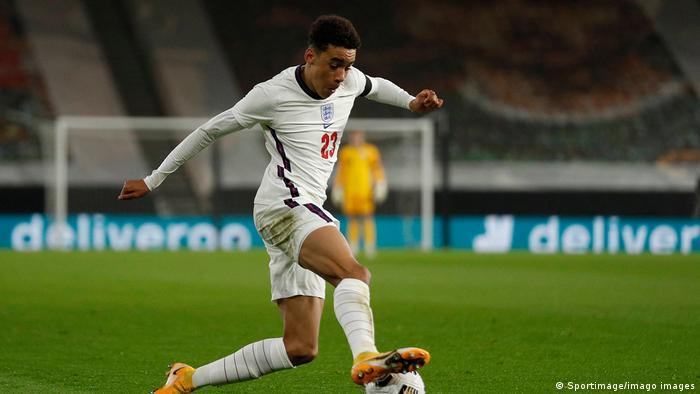 Jamal Musiala in Aktion für die englische U21-Mannschaft.