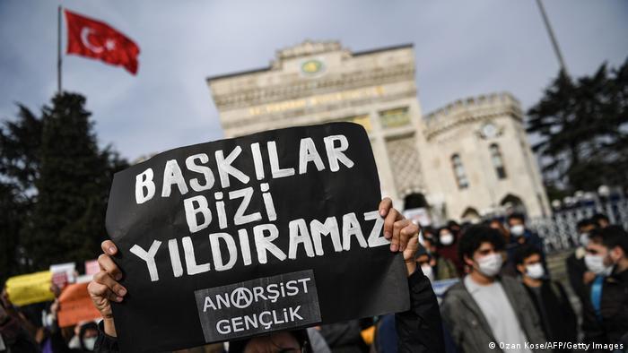 Proteste an der Bogazici Universität in Istanbul: Druck schreckt uns nicht ab