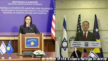 Kosovo | Israel | Videokonferenz | Meliza Haradinaj und Gabriel Ashkenazi