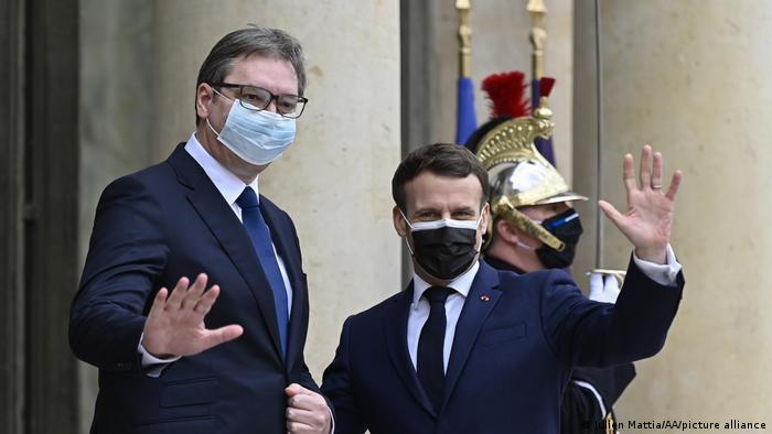 Frankreich Treffen Emmanuel Macron und Aleksandar Vučić