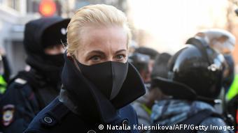 Юлия Навальная у здания суда, 2 февраля 2021 года