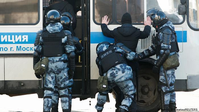 Задержание протестующих в Москве 2 февраля 2021 года