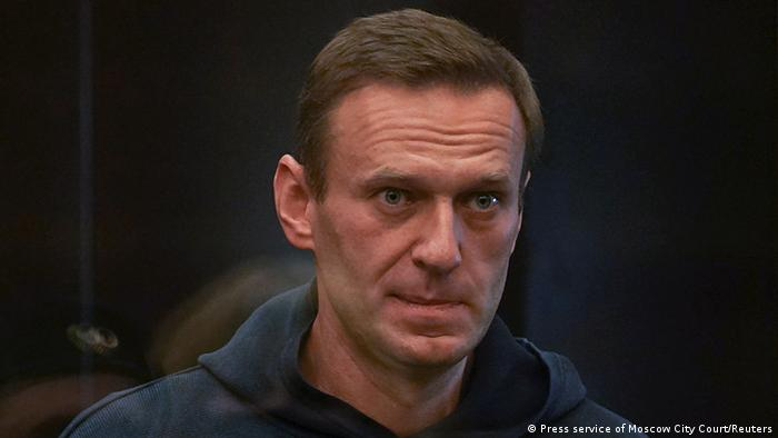 Alexej Nawalny vor Gericht in Moskau