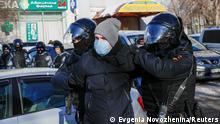 Russland Festnahmen während des Gerichtsprozesses von Alexej Nawalny in Moskau