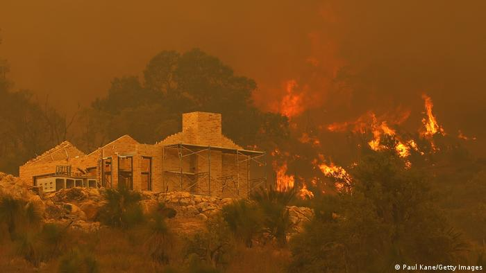 Incendios forestales en Australia en febrero de 2021.