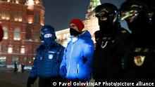 Russland Moskau | Proteste Opposition | Nawalny Anhänger