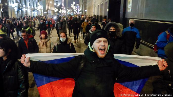 Rusya'daki gösteriler sürüyor