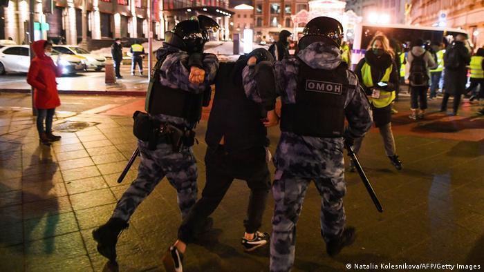Russland Moskau | Proteste Opposition nach Urteil gegen Alexej Nawalny