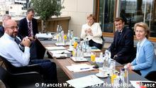 Belgien Brüssel EU Gipfel | Charles Michel, Angela Merkel, Emmanuel Macron und Ursula von der Leyen
