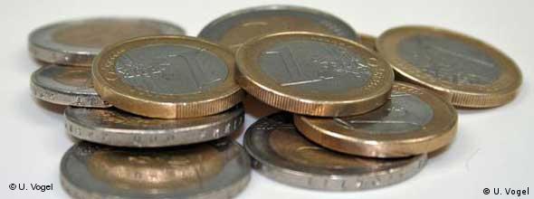 Euromünzen (Foto: U. Vogel)