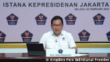 02.02.2021 Prof. Wiku Adisasmito - Spokesman for Indonesia COVID-19 task force held a virtual press conference on Tuesday (2/2).