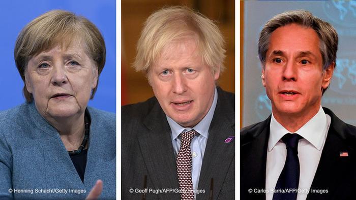 Merkel, Johnson and Blinken