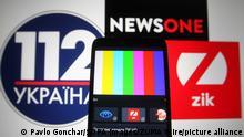 Ukraine TV Sender 112 Ukraine, NewsOne und ZIK sind nicht mehr empfangbar