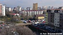 Luftverschmutzung in Skopje, Nordmazedonien. Panorama von Skopje. Skopje, Nordmazedonien 03.02.2021 Petr Stojanovski