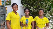 Girlz off Mute Ghana radio debate social media Ghana correspondent Isaac Kaledzi. Young girls who participated in a radio debate for the Girls off Mute project for the 77 percent program.