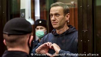 Навальный в зале суда
