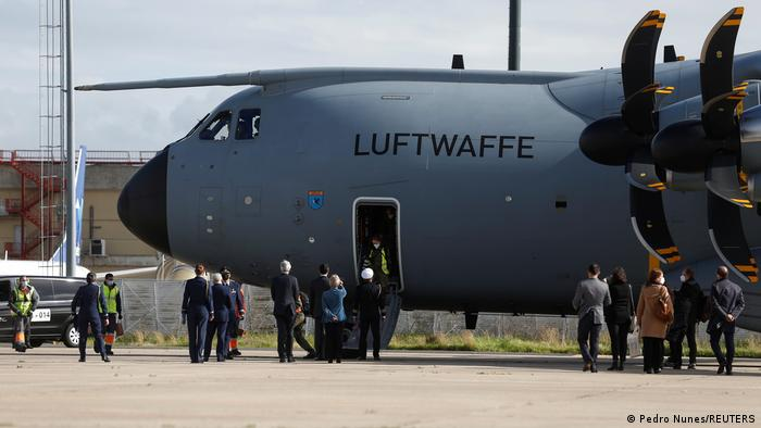 Portugal Lissabon | Corona-Nothilfe der Bundeswehr | Luftwaffe gelandet