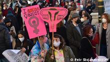 Nordmazedonien Proteste gegen sexuelle Gewalt gegen Frauen in Skopje