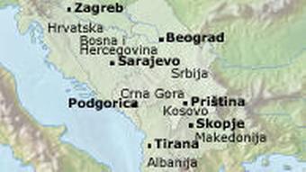 Artikelbild Karte Grafik Westbalkan BOS bosnisch Albanien, Bosnien und Herzegowina, Kosovo, Kroatien, Mazedonien, Montenegro, Serbien
