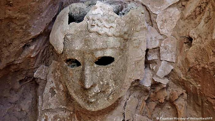 Weibliche Grabmaske, nahe Alexandria, Ägypten