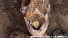 Ägypten Ausgrabung Taposiris Magna Tempel Mumie Goldzunge