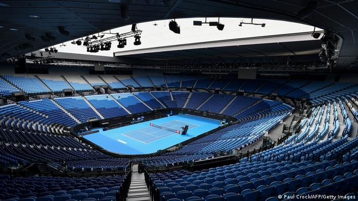 A general view of Rod Laver Arena is seen in Melbourne