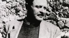 Turkish poet Nazim Hikmet is seen in this 1950 photo in Istanbul, Turkey, before he went into exile. Nazim Hikmet, after spending years in Turkish prisons died in exile, stripped of his nationality and branded a traitor. Thirty years on, Turkey's best known poet whose works have been translated into over 50 languages, is now being hailed by the state as a key figure of Turkish culture. (AP Photo/HO)