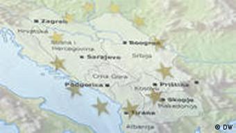 Artikelbild Symbolbild Europa Westbalkan EU-Erweiterung Symbolbild Europa Westbalkan EU-Erweiterung Albanien, Bosnien und Herzegowina, Kosovo, Kroatien, Mazedonien, Montenegro, Serbien