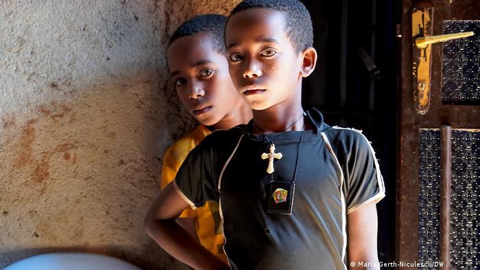 Ethiopian boys at an IDP camp