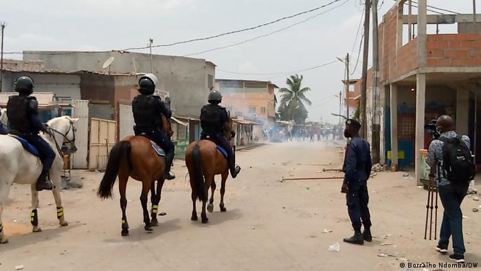 No dia 4 de fevereiro, polícia de Luanda reprimiu protesto contra a situação em Cafunfo