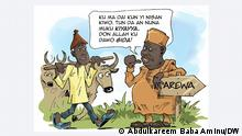 Cartoon Nomadenkrise Nigeria