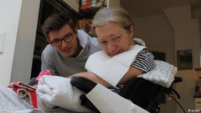 Christine Weiler-Kokott and her son