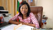 Sylvie Baïpo-Temon, der zentralafrikanischen Außenministerin. Copyright: Jean-Fernand Koena, DW-Korrespondent in Bangui.