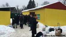 Russland Angehörige von Festgenommene vor der Untersuchungshaft Sakharovo