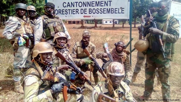 Des soldats centrafricains à Bossembélé, à environ 155 kilomètres au nord-ouest de la capitale Bangui