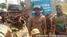 zentralafrikanische Soldaten in Bossambelé Copyright: Facebook-Seite von Premierminister Ngrebada Firmin https://www.facebook.com/ngrebadapm