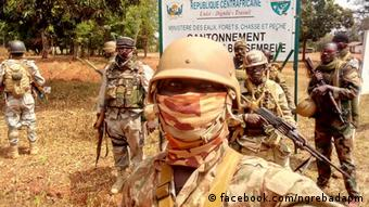 Des soldats centrafricains à Bossambelé