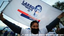 Ecuador Wahlkampf Präsidentschaftswahl