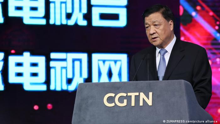 Leading member of the Chinese Communist Party Liu Yunshan at the launch ceremony of CGTN in 2016