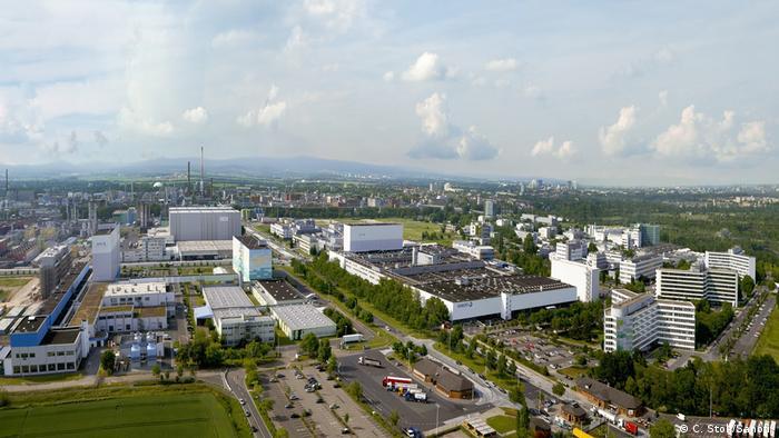 Территория фармацевтической компании Sanofi во Франкфурте-на-Майне